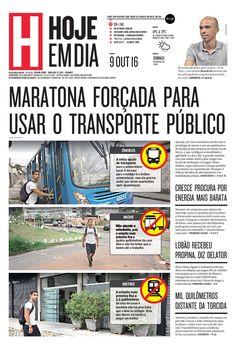 Capa do dia 09/10/2016 #HojeEmDia #Jornal #Notícias #News #Newspaper