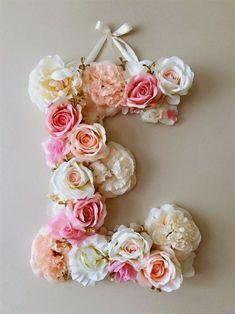 Flower Letters 18'' Floral Letters Vintage by PaulettaStore #GirlsBedroomIdeas