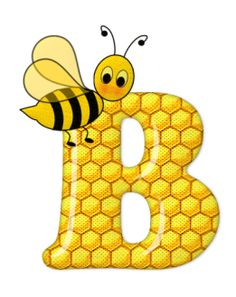 Alphabet letters bee on honeycomb. Bee Clipart, Scrapbook Letters, Bee Pictures, Spelling Bee, Cute Bee, Bee Art, Bee Design, Alphabet And Numbers, Alphabet Board