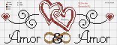 Dia dos namorados ponto cruz, amor ponto cruz, love cross stitch Cross Stitch Patterns, Crochet Patterns, Graph Paper Art, Crochet Wedding, Cross Stitch Pictures, Cross Stitch Heart, Stitch 2, Cross Stitching, Diy And Crafts