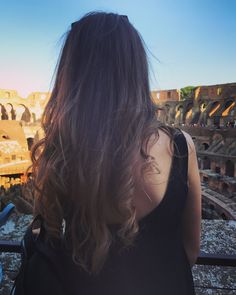 Long hair. Travel girl.
