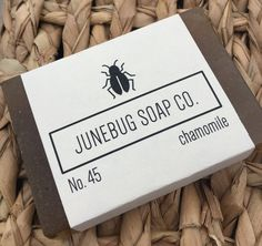 Chamomile Handmade Bar Soap - great for sensitive skin. Available at www.etsy.com/shop/JunebugSoapCo