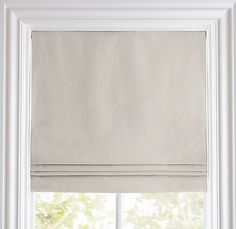 Roman shades on pinterest linen roman shades box pleat for Restoration hardware window shades
