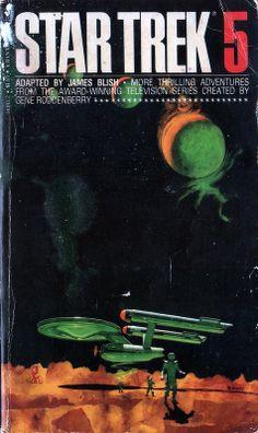 Star Trek 5 by James Blish. Bantam 1980. Cover artist Mitchell Hooks