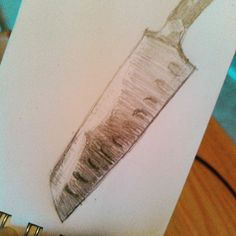 It occurred to me that sometimes the sharpest blades are not always the shiniest. #santokuknife #art #artistic #drawingaday #drawing #sketching #sketch #sketchaday