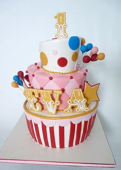 topsy turvy circus cakes - Google Search