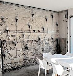 Industrial random Light Wall