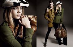 Burberry  Models:  Cara Delevingne, Johnny George    Photographer:  Mario Testino