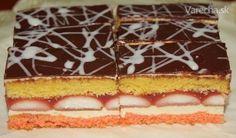 Zákusok je výborný, pečiem ho sporadicky na slávnostné príležitosti. Czech Recipes, Sweet Tooth, Cheesecake, Dessert Recipes, Food And Drink, Gluten Free, Cookies, Hampers, Glutenfree