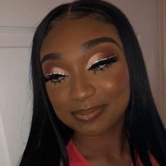 Dope Makeup, Glam Makeup Look, Glamour Makeup, Beauty Makeup, Baddie Makeup, Makeup For Black Skin, Black Girl Makeup, Girls Makeup, Prom Makeup