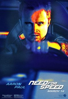 Aaron Paul. Need for Speed. Movie Poster. Bitch.