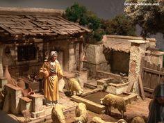 belenistas de la Isla. Fotos Fontanini Nativity, Winter Painting, Miniature Rooms, Portal, Christmas Nativity, Religious Art, Diorama, Design Art, Interior Design