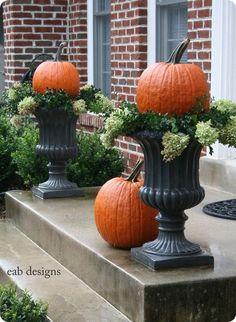 Fall Decor - I have pots similiar to these- LOVE this idea ;)