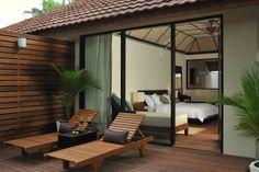 Beach villa Exterior at Lily Beach Resort & Spa Maldives,  for more details visit www.voyagewave.com