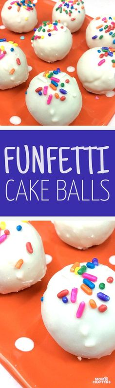 Funfetti cake balls are the perfect recipe for a unicorn or mermaid themed birthday party - or any party! They are also perfect for baking and cooking with kids and a fun treat.