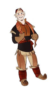 """""""Kristoff concept art""""                      does anybody notice that he almost like Flynn? Or its just me?"""