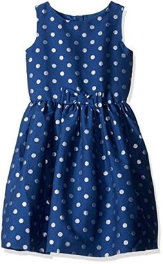 Gymboree Big Girls Blue and Silver Dot Dress Multi 7 ** Check out the image by visiting the link.Note:It is affiliate link to Amazon. #commentsplease