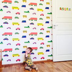 "@KiitosMarimekko: Redecorate the children's room with this ""Bo Boo"" Wallpaper. This item is available at http://kiitosmarimekko.com/products/boboo-wallpaper-white-multi"