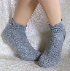 """Handgestrickte Socken/Sneaker 36/37 unisex von """"Verrückte Maschen"""" Strick- und Häkel-Design auf DaWanda.com"""