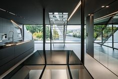 Futurismus in Architektur und Interieur-Design – CoMed Haus in Wien - Dekoration ideens Futuristisches Design, Modern Design, House Design, Architecture Origami, Concept Ouvert, Compact Living, Outdoor Areas, Vienna, Swimming Pools
