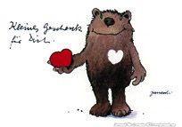 Kleines Geschenk für Dich - #Herz, #Geschenk, #Postkarte, #Janosch