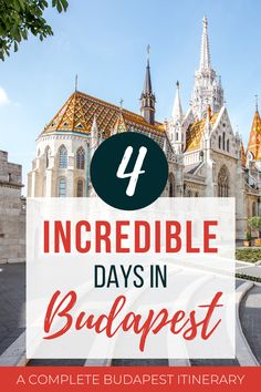 Budapest is absolutely one of the most underrated and stunning cities in Europe. Here's how to make the most of your 4 days in Budapest. Budapest Travel Guide, Europe Travel Guide, Travel Guides, Best Cities In Europe, Places In Europe, Europe Bucket List, Bucket Lists, Buda Castle, Hungary Travel