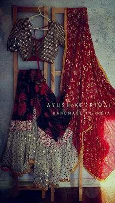Saree by Ayush Kejriwal For purchases email me at ayushk@hotmail.co.uk or what's app me on 00447840384707 We ship WORLDWIDE. Designer Bridal Lehenga, Bridal Lehenga Choli, Indian Look, Indian Wear, Indian Dresses, Indian Outfits, Skirt Fashion, Fashion Dresses, Navratri Dress