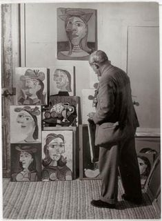 Picasso looking upon