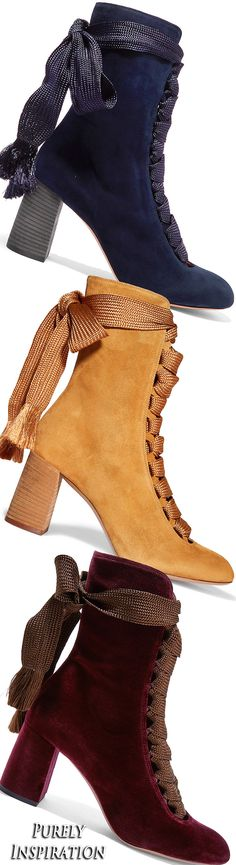 Chloé Lace-up suede ankle boots | Purely Inspiration