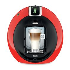 This is the NESCAFÉ Dolce Gusto Circolo which is the very futuristic coffee machine made by De'Longhi. It is a single serve coffee machine that uses pods Coffee Machine, Coffee Maker, Peach Ice Tea, Single Serve Coffee, Espresso Maker, Espresso Machine, Blue Led Lights, Nescafe, Heating Systems