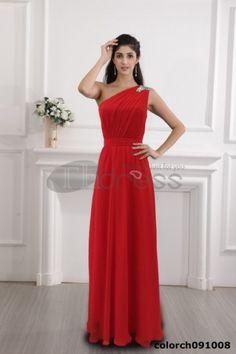 Silk dress red dress dress 2012 one shoulder dress