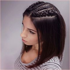 Multi-Braids-for-Straight-Bob Amazing Braids for Short Hair Boxer Braids Hairstyles, Pretty Braided Hairstyles, Easy Hairstyles, Straight Hairstyles, Short Hair Styles Easy, Short Hair Cuts, Medium Hair Styles, Natural Hair Styles, Pixie Cuts