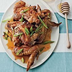 Honey-Chile Chicken Wings // More Fantastic Chicken Wings: http://www.foodandwine.com/slideshows/chicken-wings #foodandwine