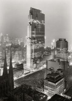 Rockefeller Center and RCA Building (now 30 Rock) New York NY (1933)   Photo : Gottscho-Schleisner