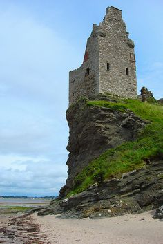 Greenan Castle in Ayrshire, Scotland. My home town. I walk this very beach most days with my dogs. Wonderful.