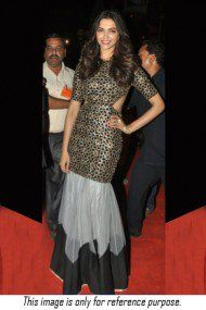 Deepika Padukone Moss Velvet Party Wear Gown In Black Colour NC5050