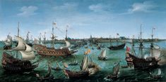 Hendrick Cornelisz Vroom - The Arrival at Vlissingen of Frederick V, Elector Palatine, 1632