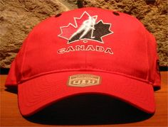 bd7dca11a74 IIHF TEAM CANADA OLD TIME HOCKEY Adjustable Ball Cap Hat Red  fashion   clothing  shoes  accessories  mensaccessories  hats