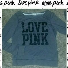 LOVE PINK SWEATER re- poshing  - never worn by me... too small =(   good condition - a little faded, but no holes or stains. PINK Victoria's Secret Sweaters