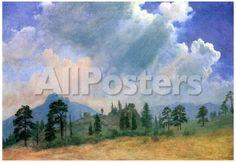 Albert Bierstadt Fir Trees and Storm Clouds Art Print Poster Landscapes Poster - 48 x 33 cm