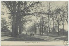 Third St.  The street once had three rows of trees with unpaved streets on either side of the center row (HSCC, 1997).