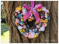 """Couronne en forme de coeur """"Alicia"""". Déco mariage. Couronne décorative. Couronne porte d'entrée : Accessoires de maison par perles-et-couronnes"""