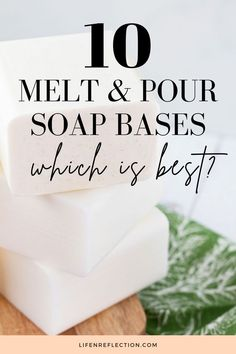 I tried 10 melt and pour soap bases. See which of these is best for your homemade soap ideas! Soap Supplies, Soap Making Recipes, Soap Base, Home Made Soap, Homemade, Homemade Dish Soap, Home Made, Hand Made