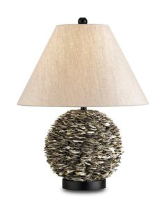 Oyster Shell Amalfi Table Lamp
