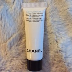 Chanel lait confort cleansing milk Chanel lait confort creamy cleansing milk comfort + anti-pollution face and eyes. Brand new, never opened or used CHANEL Makeup