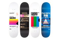"""""""VHS Tapes"""" Deck Series: New York's is dialing back the clock with the release of its latest set of decks. The artwork on each of the eight pro decks draws inspiration f. Skateboard Design, Skateboard Decks, Design Tape, Lego, Gadgets, Skate Art, Cool Skateboards, Skate Decks, Principles Of Design"""