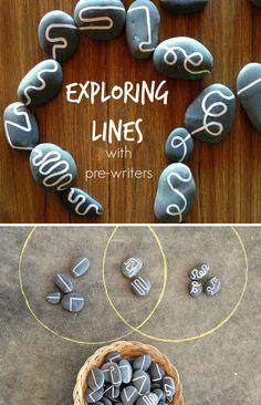 Ideal para preescolares, este juego que combina distintas clases de líneas es facilísimo de hacer. ¡Nos ha encantado!
