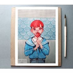 Portrait Illustration, Digital Illustration, Button Art, Kpop Fanart, Art Inspo, Mystic, Diy And Crafts, Sketches, Fan Art