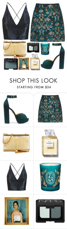 """02.20"" by mariimontero ❤ liked on Polyvore featuring Charlotte Olympia, Yves Saint Laurent, Chanel, Topshop, Diptyque, NARS Cosmetics and Munn Works"