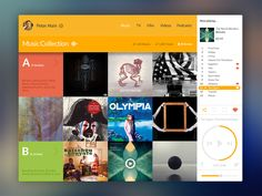 Music - Mobile app interface UI UX